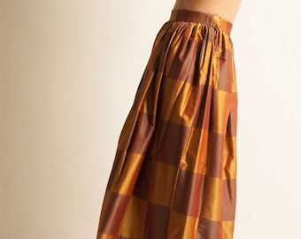 9aa2424cd71 Long skirt Jean Patou from 1960 s checked pattern
