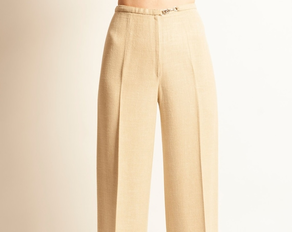 Linen pants HERMES sport from early 1970's