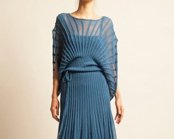 Evening knitted dress from 1970's