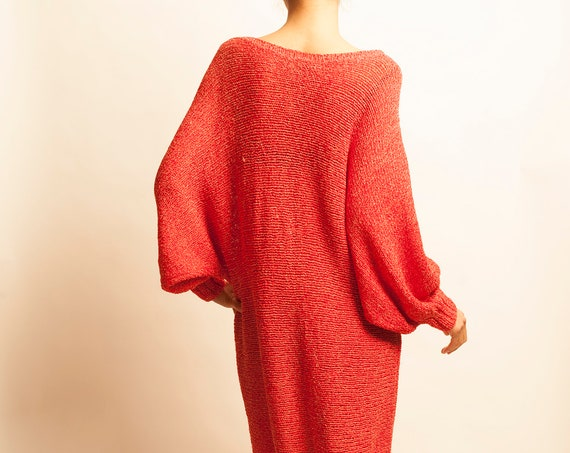 Gianni Versace 1980's cat appliqued dolman sleeves knit dress