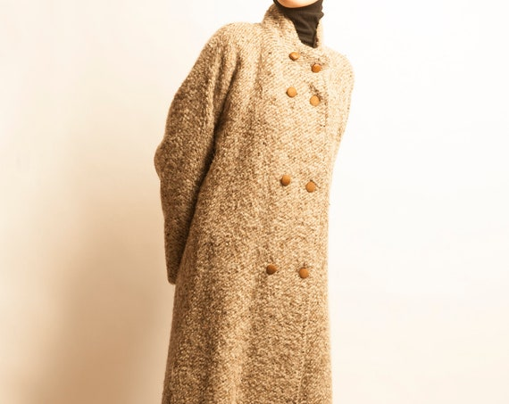 Pierre Cardin 1980's mohair A-line long coat
