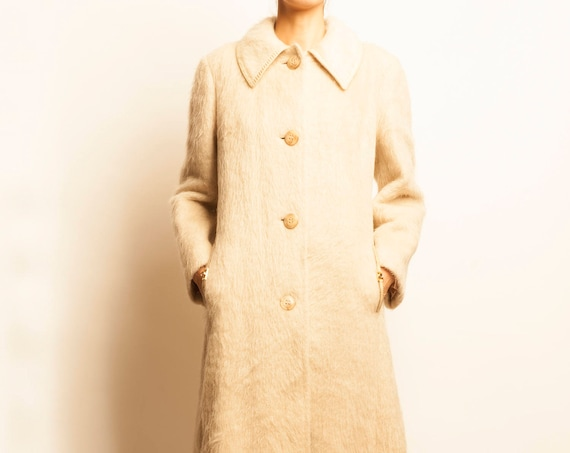 1970's white camel hair 3/4 coat