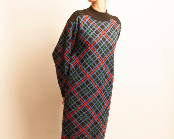 Knit dress Yves Saint Laurent from 1980's