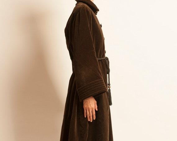 Kaftan coat Yves Saint Laurent from 1970's velvet