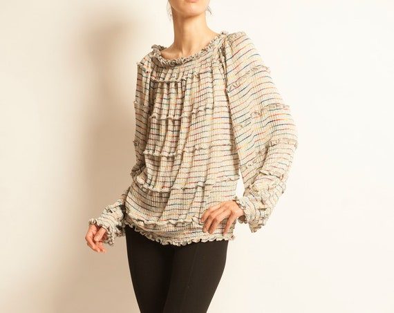 Flared top MISSONI from 1980's stripes motif