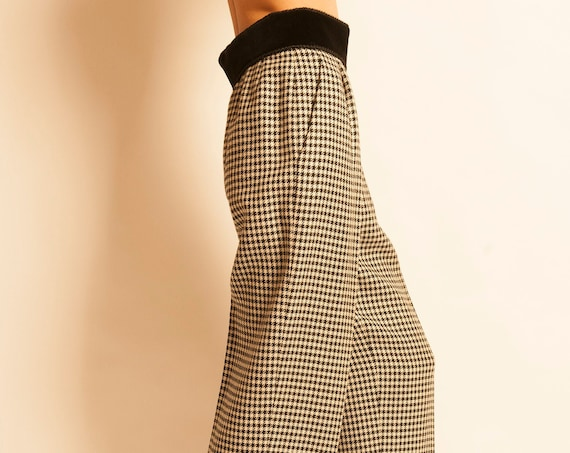 Trousers Yves Saint Laurent from 1990's houndstooth motif