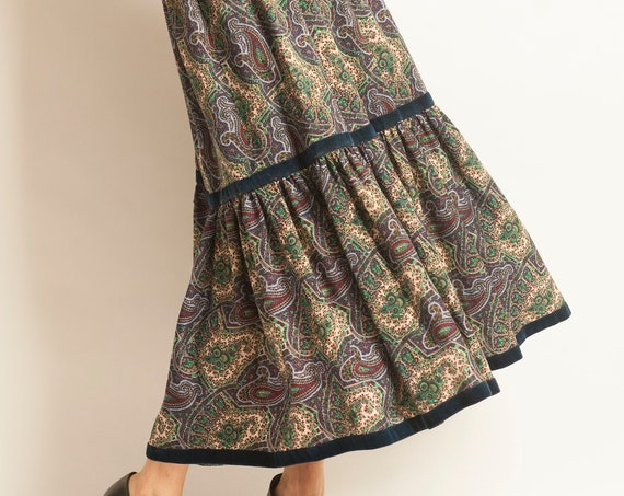 Long peasant skirt Yves Saint Laurent from 1977