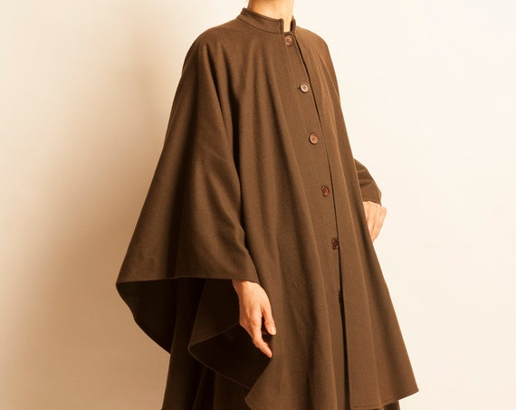 Double cape Yves Saint Laurent from 1970's
