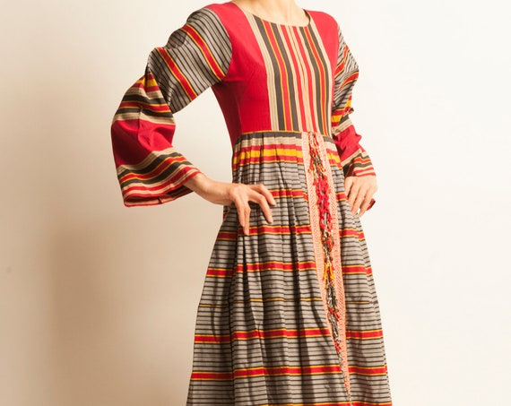 Long ethnic dress from 1960-70's