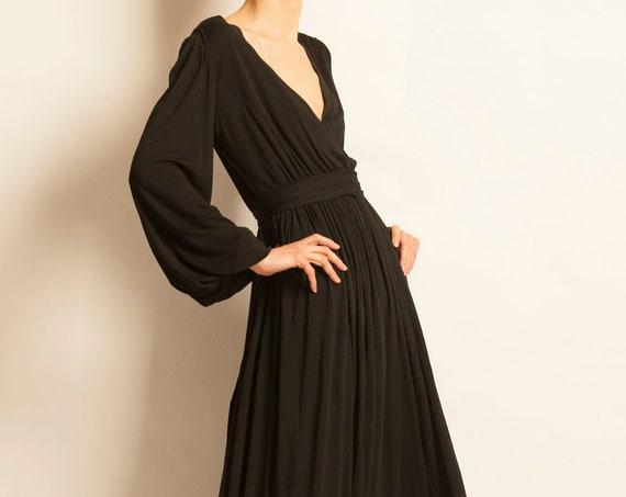 Black evening dress Yves Saint Laurent from 1973