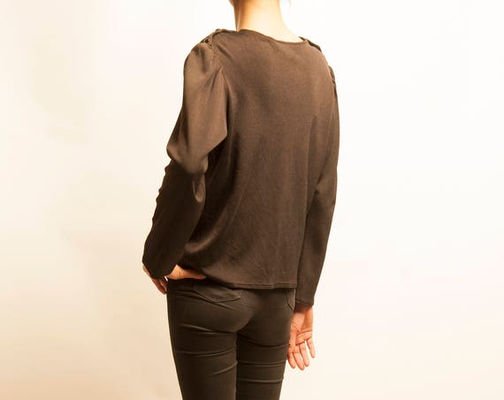Yves Saint Laurent 1980's black top