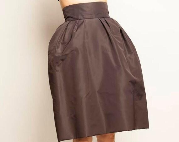 made by Maison Balenciaga 1950-1960's silk taffetas corset couture skirt