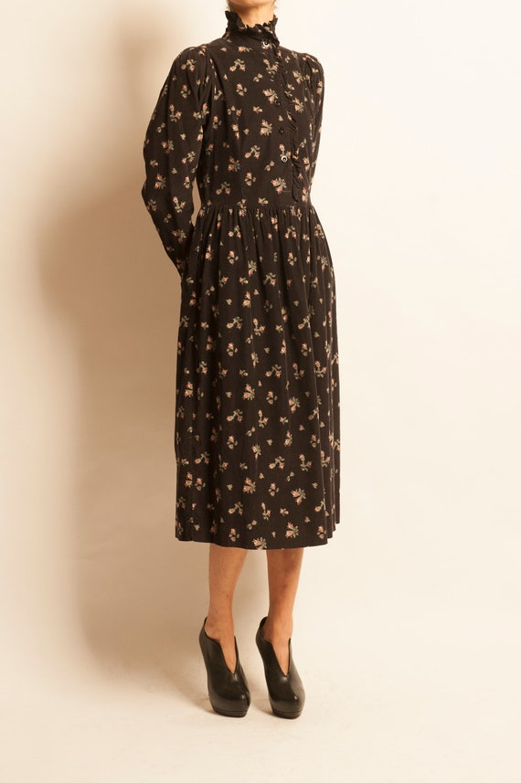Smock day dress Laura Ashley from 1980's motif fl… - image 3