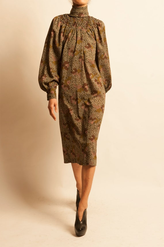 Wool smock dress from 1970's