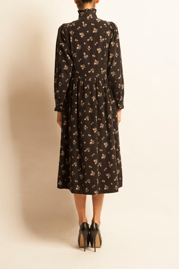 Smock day dress Laura Ashley from 1980's motif fl… - image 5