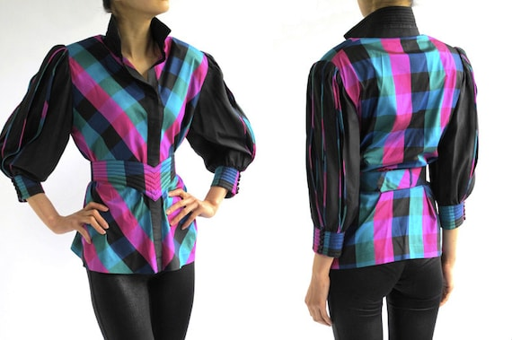 BETTY Colorful Thai Silk Shirt