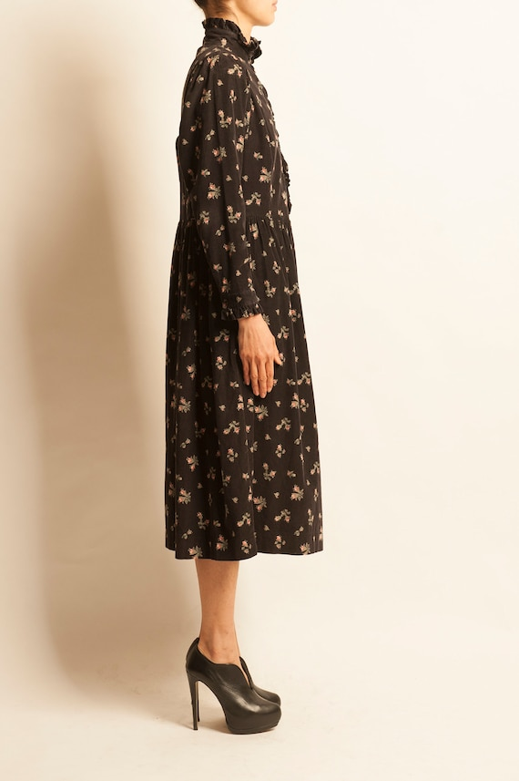 Smock day dress Laura Ashley from 1980's motif fl… - image 4