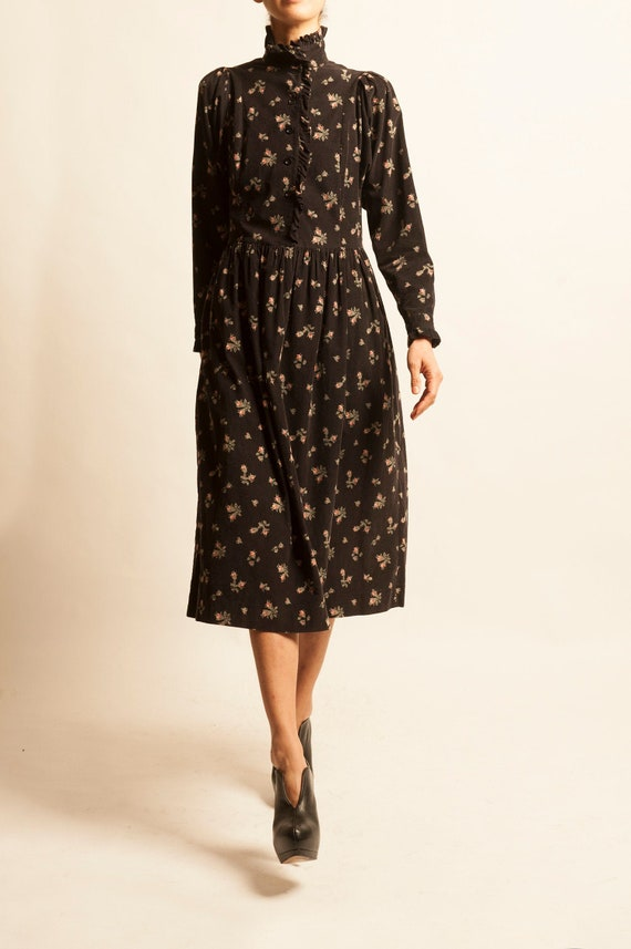 Smock day dress Laura Ashley from 1980's motif fl… - image 1