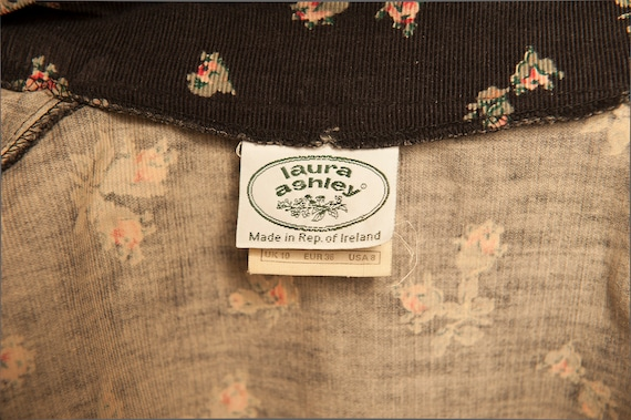Smock day dress Laura Ashley from 1980's motif fl… - image 7