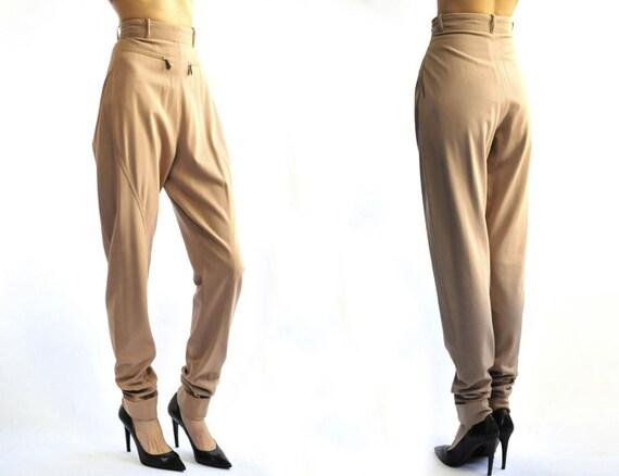 HERMES 1980's wool jodhpurs pants
