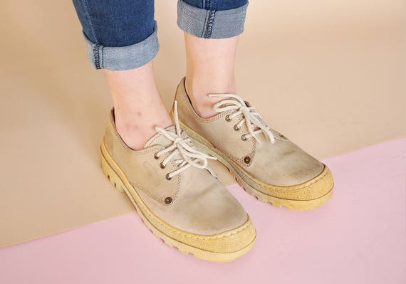 90s PREPPY oxford shoes STURDY leather oxfords sue