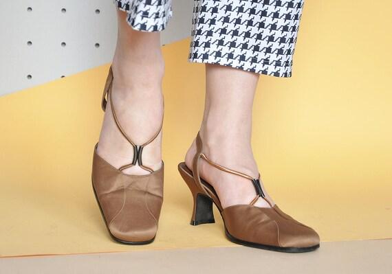 90s SATIN sandals SLINGBACK sandals MOD sandals mo