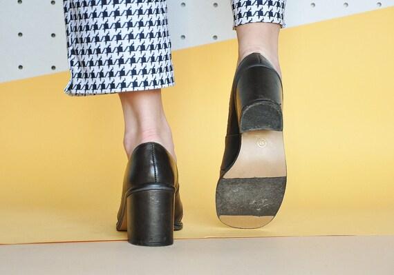 70s BLOCK heel pumps RETRO pumps BOHO pumps mod p… - image 5