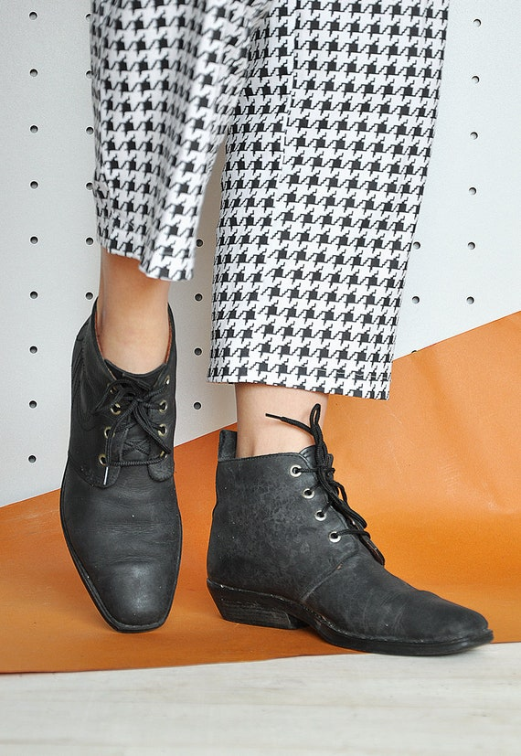 80 s BOHO bottes WESTERN Bohème bottes bottes bottes de gypsy hippie festival bottes bottes de cuir bottines / taille 7,5 US / 5 uk / 38 eu 617d41