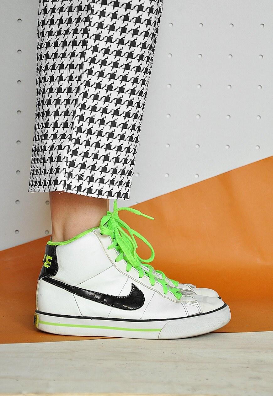 ca41cbd166dd1 90s NIKE sneakers HIGH TOP sneakers white sneakers neon