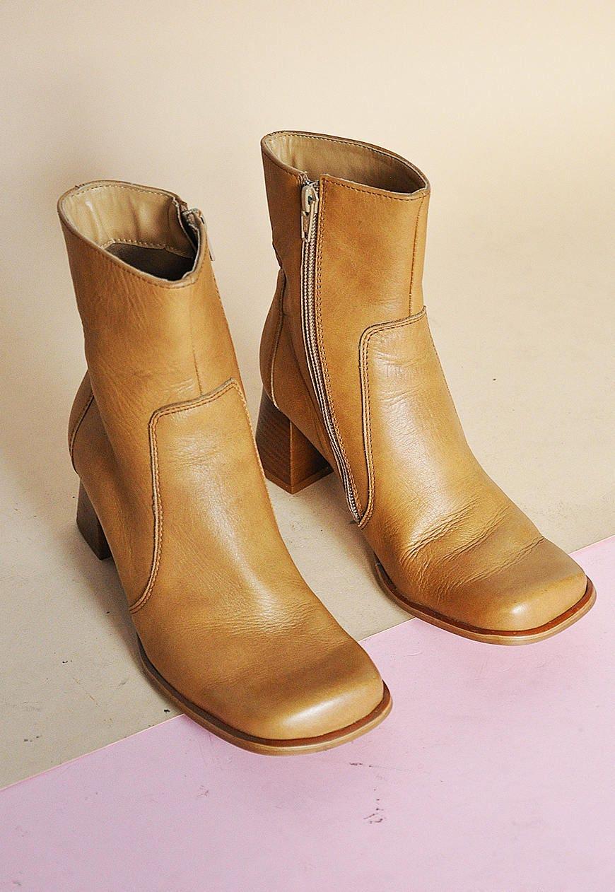 90 s minimaliste MOD cuir bottes bottes minimaliste s MINIMAL bottes de Pierre creek moderne bottes bottes bottes bout carré de sable / taille US 6 / 3.5 uk / 36 eu caf4ac
