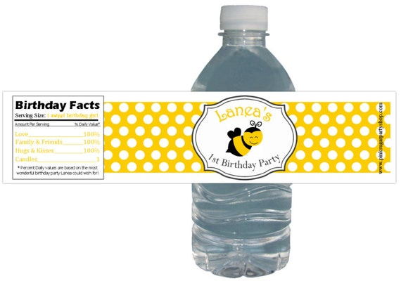 Waterproof Baby Pink Lemonade Party 10ct Bottle Labels birthday baby shower