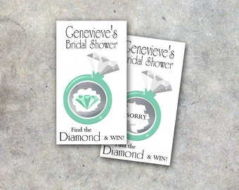 Bridal Shower Scratch Off Game Cards - Diamond Ring