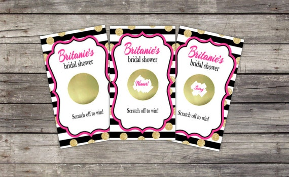 Scratch Off Cards | Party Game | Bridal Shower, Birthday Party, Baby