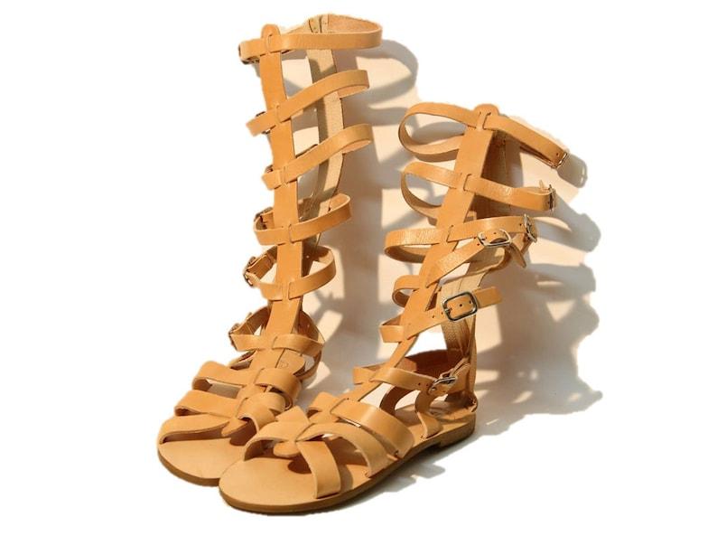868b03658e14 Leather sandals women sandals knee high sandals gladiator