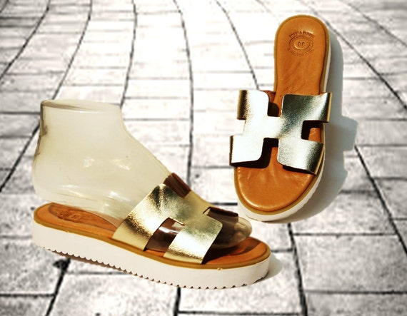 446c43d56768 Leather sandals women sandals chunky sole sandals handmade