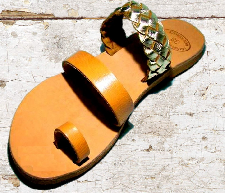 248fc46ee623 Greek Tan leather sandals women sandals nude sandals Golden