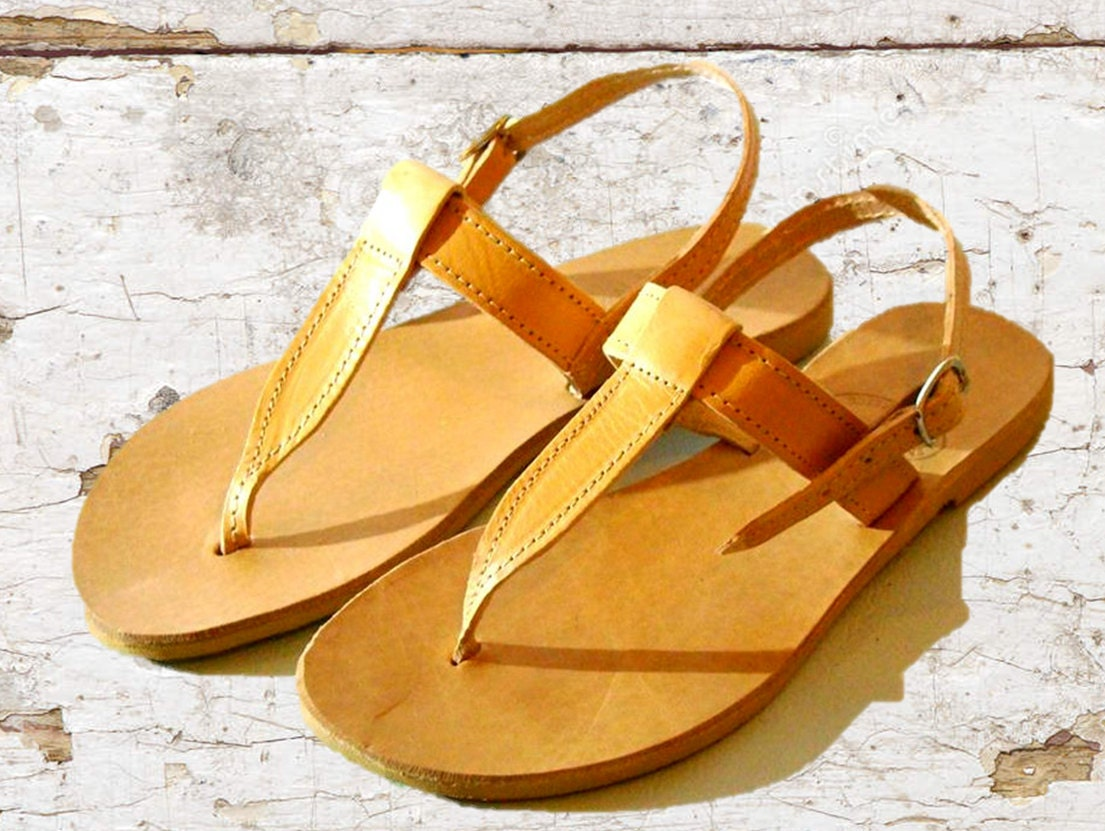 95174eec2907 Leather sandals women sandals greek tan leather sandals