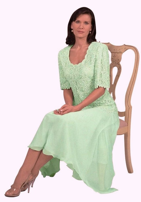 567a484ffa1 Mother of the Bride   Groom Dresses 1pc Tea Length Dress in