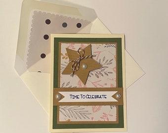 "DIY Card Kit - ""Time To Celebrate"""