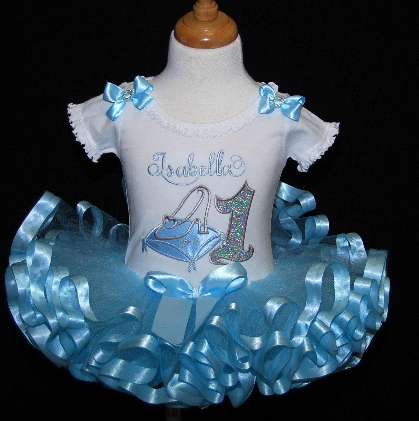 1st birthday tutu outfit Cinderella glass slipper