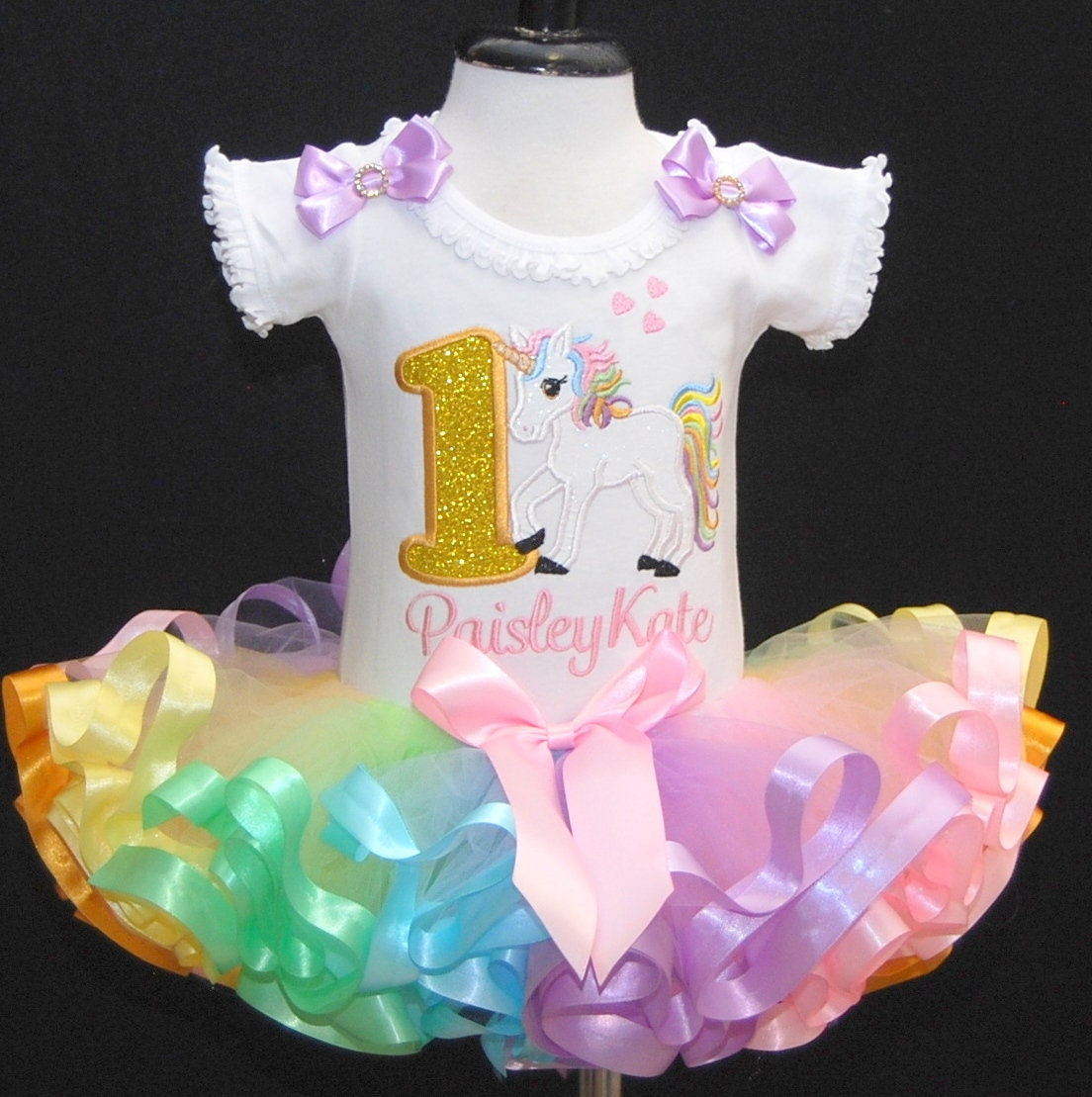 unicorn 1st birthday outfit, unicorn birthday outfit, first birthday unicorn outfit, unicorn headband, smash cake outfit girl,rainbow tutu