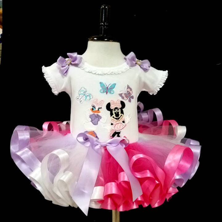 1st birthday girl outfit, Minnie and Daisy with Butterflies
