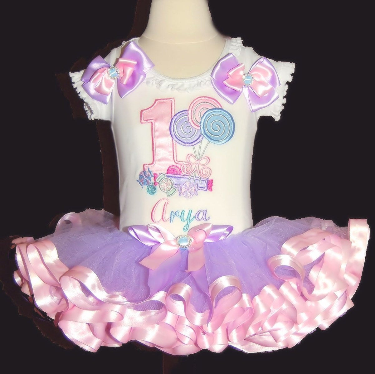 First Birthday Candyland, Birthday Tutu Outfit,  Birthday Dress, 1st birthday tutu outfit, candy tutu, lollipop tutu birthday tutu dress