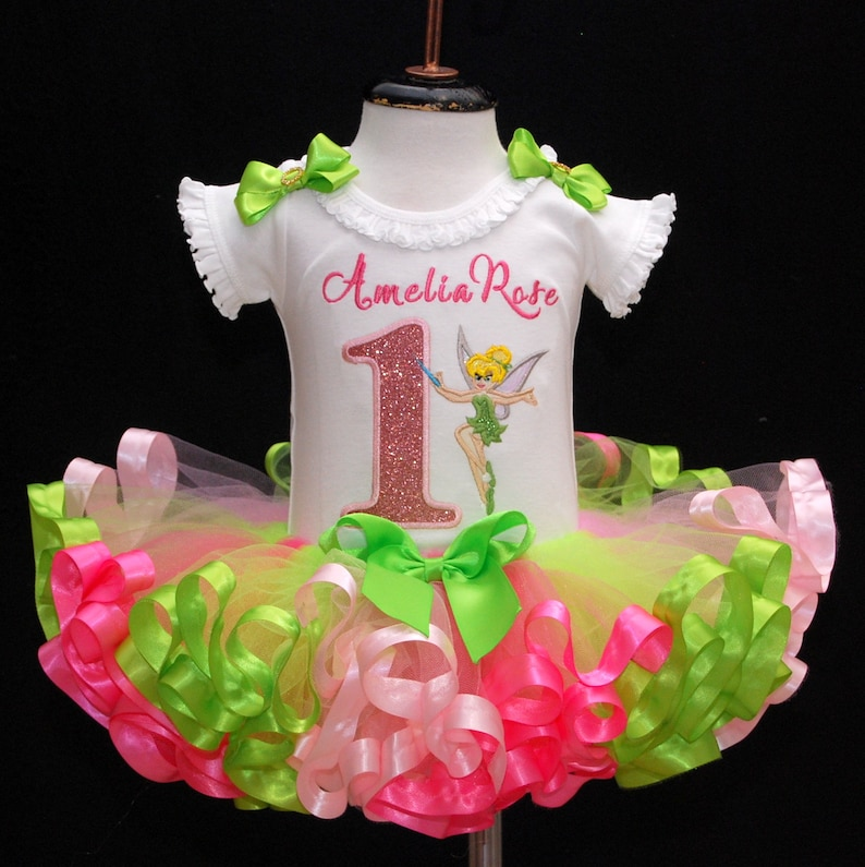a36ef9ff1 1st birthday girl outfit Tinkerbell first birthday tutu outfit | Etsy