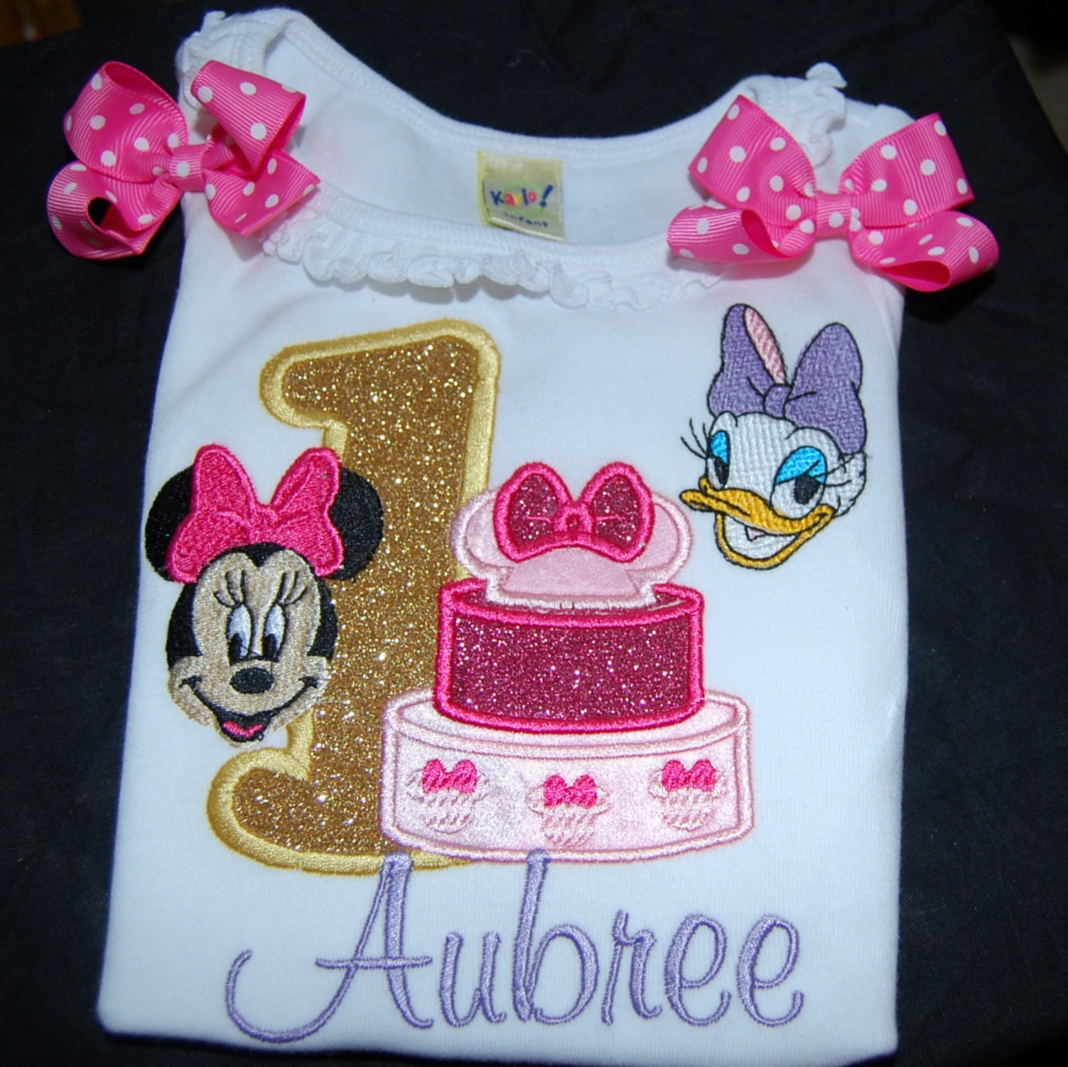 personalized birthday shirt, 1st birthday Minnie Mouse and Daisy Duck birthday shirt