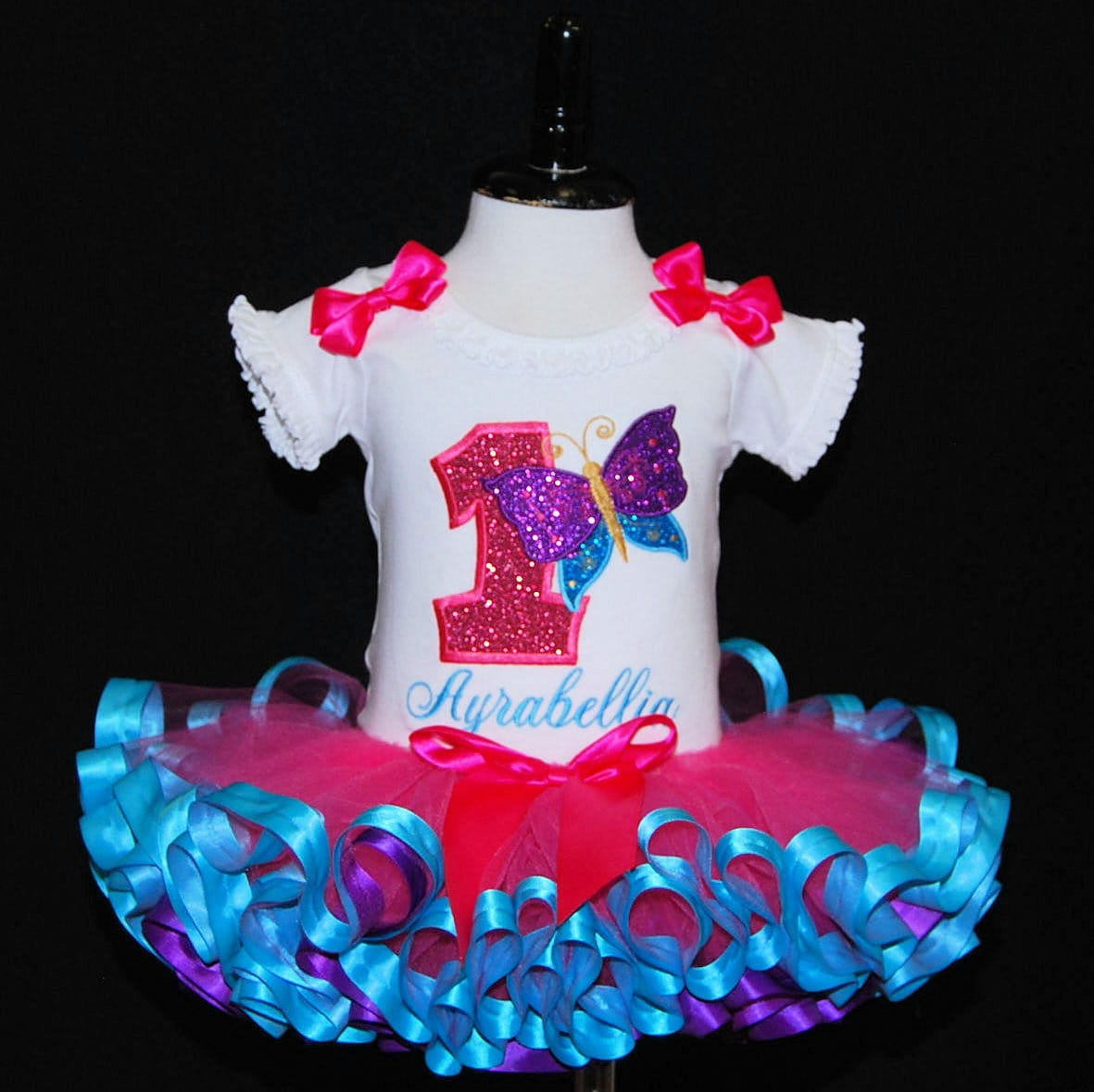 1st birthday girl outfit, butterfly birthday tutu outfit