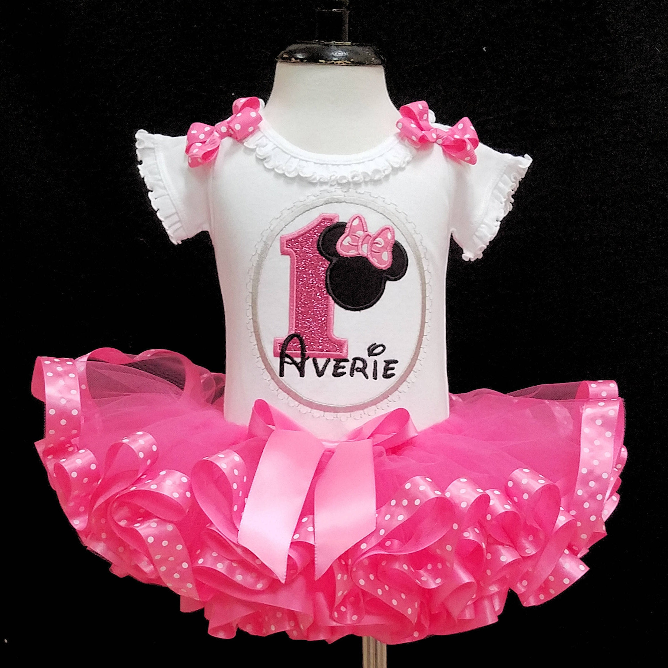 Minnie Mouse birthday outfit, baby girl 1st birthday outfit, Minnie Mouse 1st birthday outfit girl  Minnie Mouse first birthday outfit