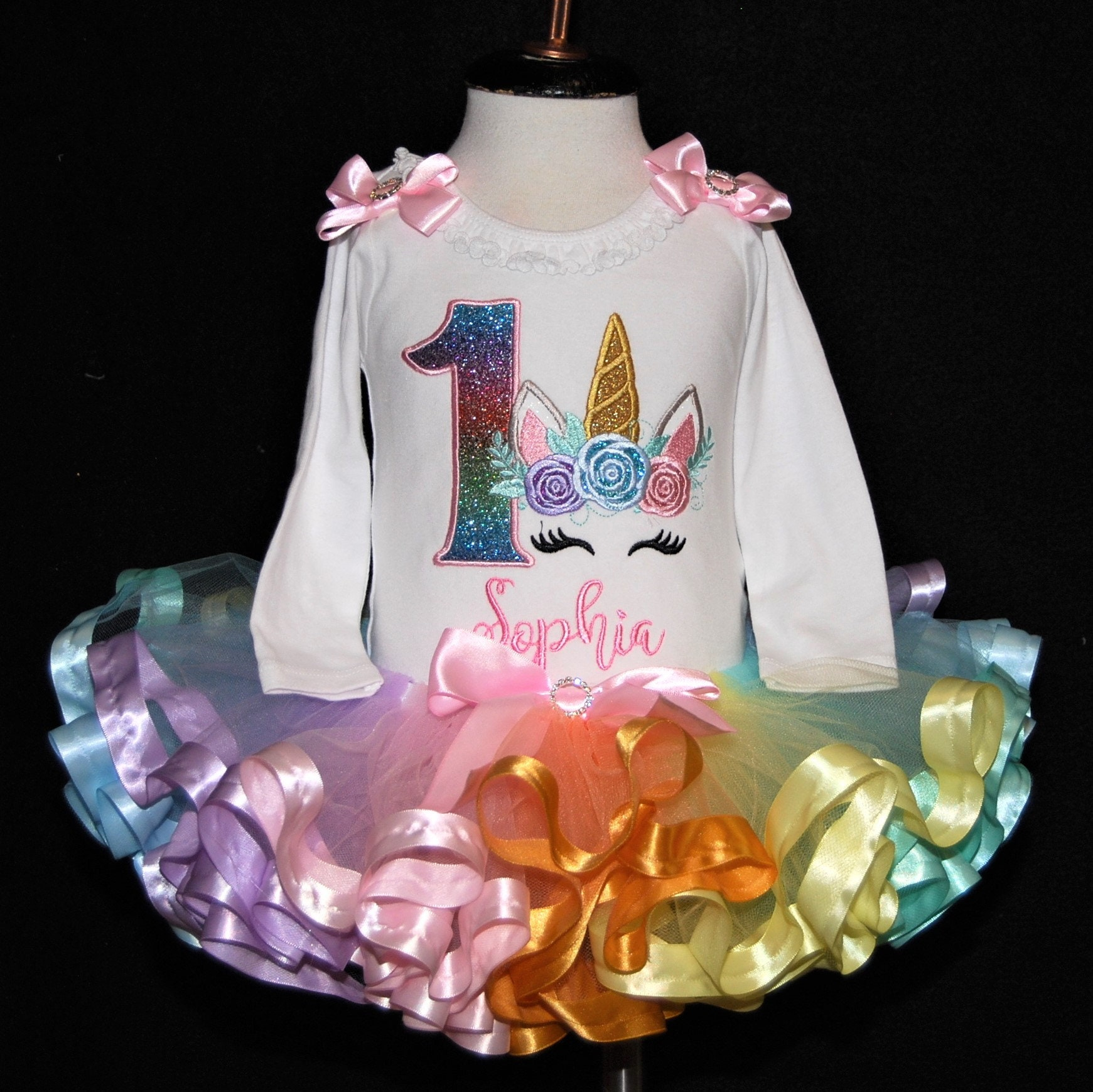 unicorn 1st birthday outfit 1st birthday girl outfit unicorn first birthday outfit pastel rainbow tutu outfit unicorn birthday outfit