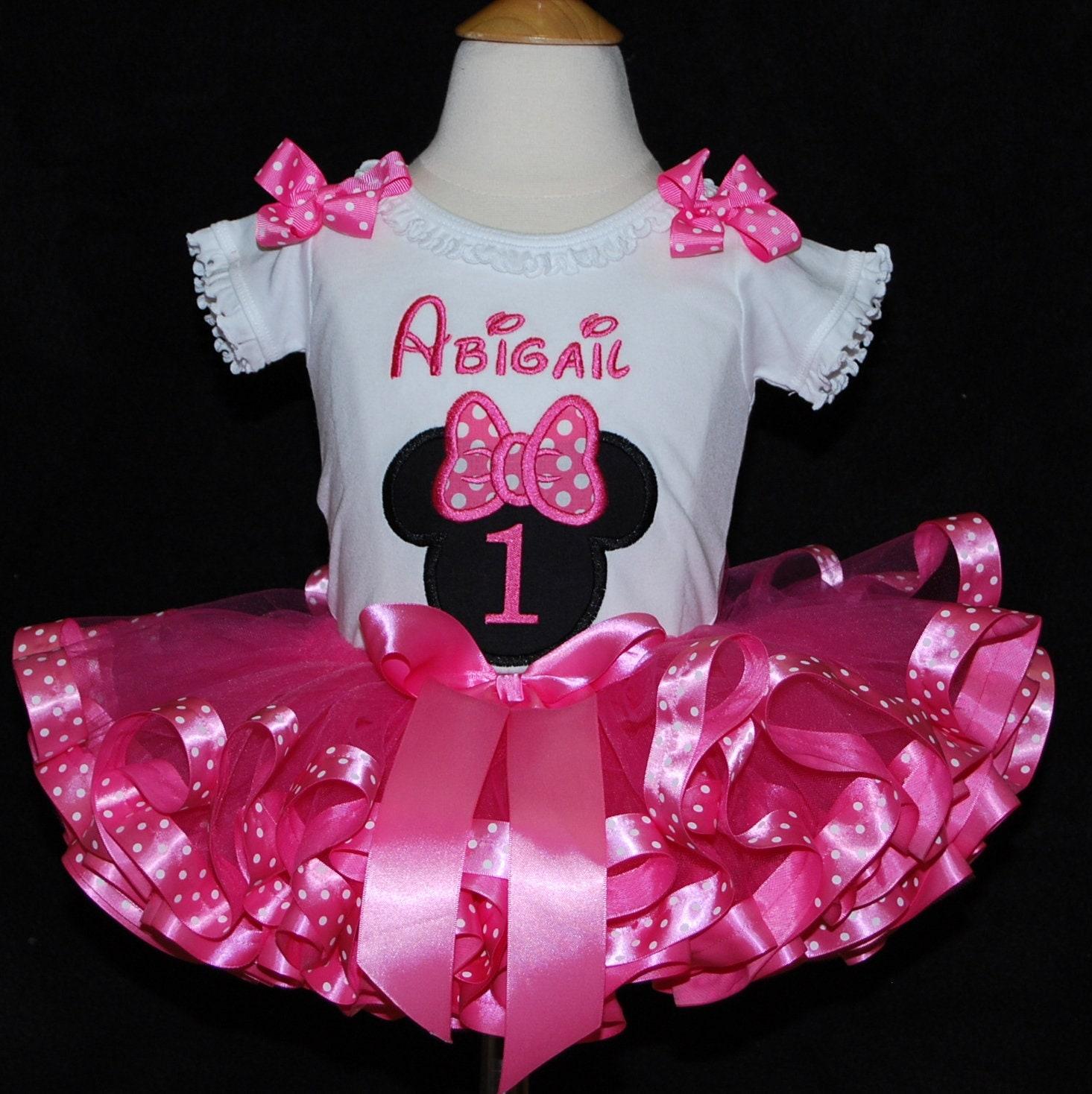 minnie mouse birthday outfit birthday tutu outfit personalized minnie mouse birthday shirt cake smash outfit minnie mouse tutu dress pink