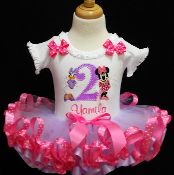 Phenomenal 2Nd Birthday Outfit Girl Featuring Minnie Mouse And Daisy Etsy Personalised Birthday Cards Paralily Jamesorg